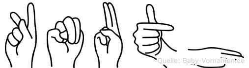 Knuth im Fingeralphabet der Deutschen Gebärdensprache
