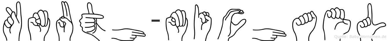 Knuth-Michael im Fingeralphabet der Deutschen Gebärdensprache