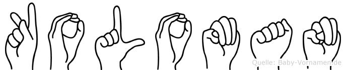 Koloman in Fingersprache für Gehörlose