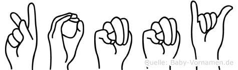 Konny im Fingeralphabet der Deutschen Gebärdensprache