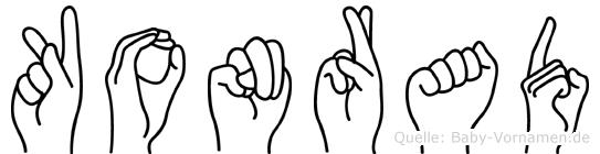 Konrad in Fingersprache für Gehörlose
