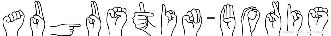 Augustin-Boris im Fingeralphabet der Deutschen Gebärdensprache