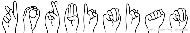 Korbinian in Fingersprache für Gehörlose