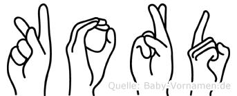 Kord in Fingersprache für Gehörlose