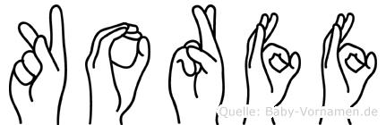 Korff in Fingersprache für Gehörlose
