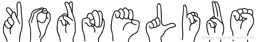 Kornelius in Fingersprache für Gehörlose