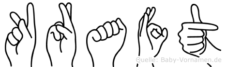 Kraft im Fingeralphabet der Deutschen Gebärdensprache