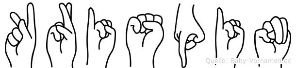 Krispin in Fingersprache für Gehörlose