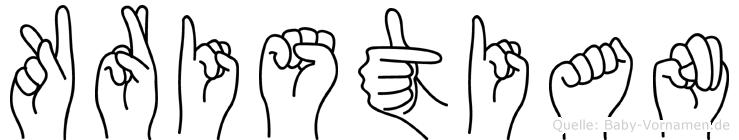 Kristian in Fingersprache für Gehörlose
