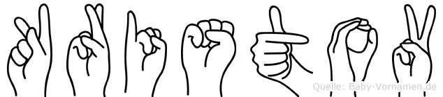Kristov im Fingeralphabet der Deutschen Gebärdensprache