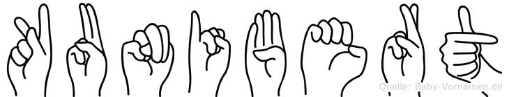 Kunibert in Fingersprache für Gehörlose