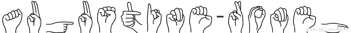 Augustine-Romeh im Fingeralphabet der Deutschen Gebärdensprache