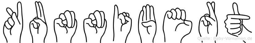 Kunnibert im Fingeralphabet der Deutschen Gebärdensprache