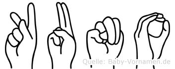Kuno in Fingersprache für Gehörlose