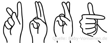 Kurt in Fingersprache für Gehörlose