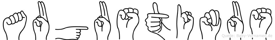 Augustinus in Fingersprache für Gehörlose