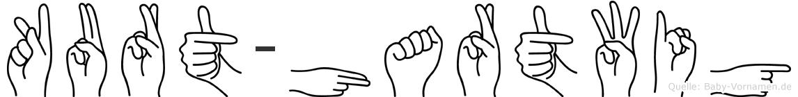 Kurt-Hartwig im Fingeralphabet der Deutschen Gebärdensprache