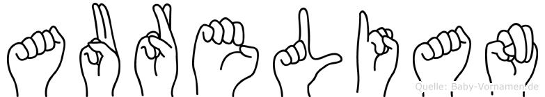 Aurelian im Fingeralphabet der Deutschen Gebärdensprache