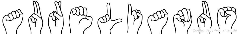 Aurelianus im Fingeralphabet der Deutschen Gebärdensprache