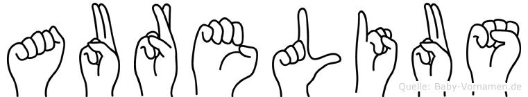 Aurelius im Fingeralphabet der Deutschen Gebärdensprache