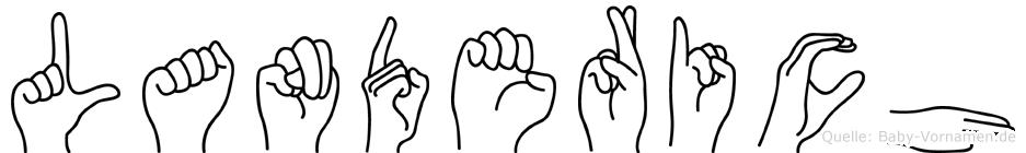 Landerich in Fingersprache für Gehörlose