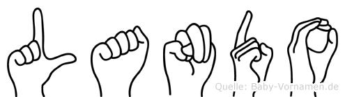 Lando in Fingersprache für Gehörlose
