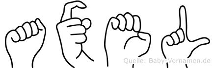 Axel in Fingersprache für Gehörlose