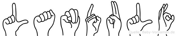 Landulf in Fingersprache für Gehörlose
