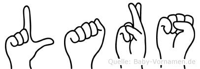 Lars in Fingersprache für Gehörlose