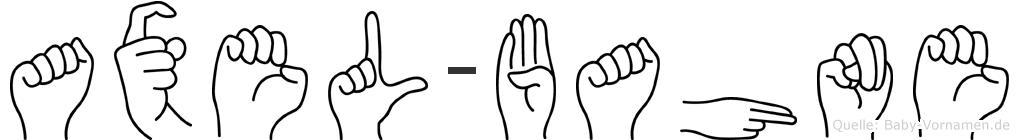 Axel-Bahne im Fingeralphabet der Deutschen Gebärdensprache