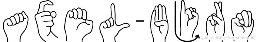 Axel-Björn im Fingeralphabet der Deutschen Gebärdensprache