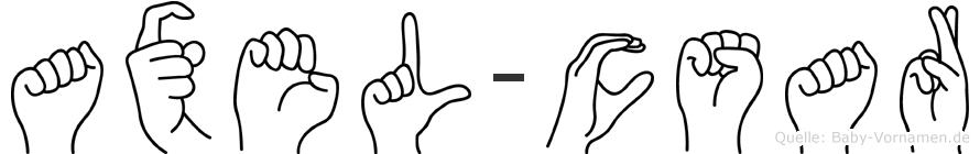 Axel-Cäsar im Fingeralphabet der Deutschen Gebärdensprache