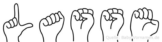 Lasse in Fingersprache für Gehörlose