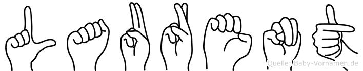 Laurent in Fingersprache für Gehörlose