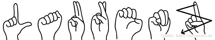Laurenz in Fingersprache für Gehörlose