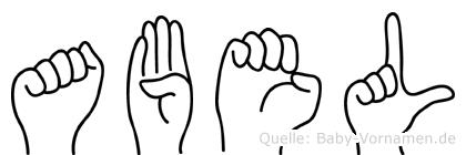 Abel in Fingersprache für Gehörlose