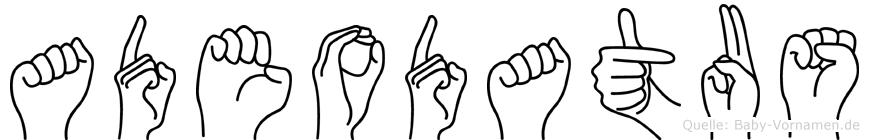 Adeodatus im Fingeralphabet der Deutschen Gebärdensprache