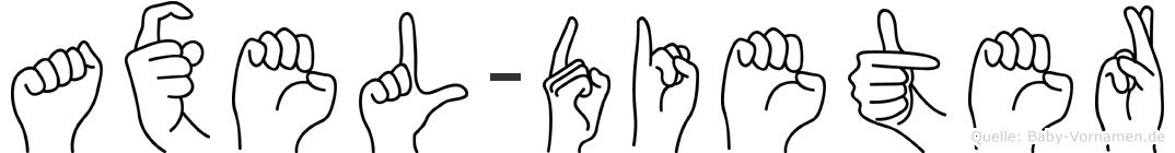 Axel-Dieter im Fingeralphabet der Deutschen Gebärdensprache
