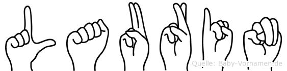 Laurin im Fingeralphabet der Deutschen Gebärdensprache