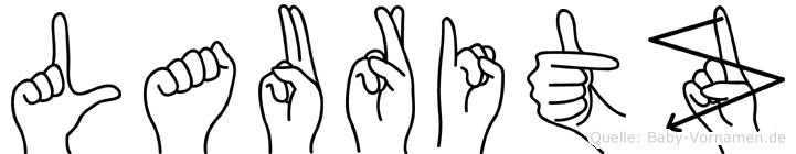 Lauritz im Fingeralphabet der Deutschen Gebärdensprache