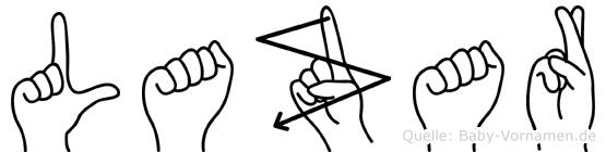 Lazar in Fingersprache für Gehörlose