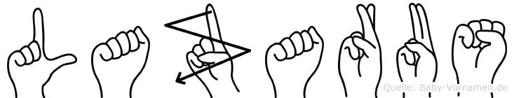 Lazarus in Fingersprache für Gehörlose