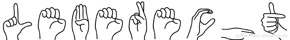 Leberecht in Fingersprache für Gehörlose