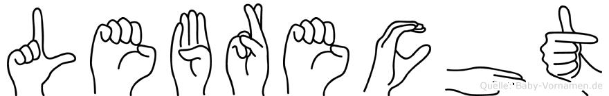 Lebrecht im Fingeralphabet der Deutschen Gebärdensprache