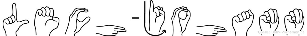 Lech-Johann im Fingeralphabet der Deutschen Gebärdensprache