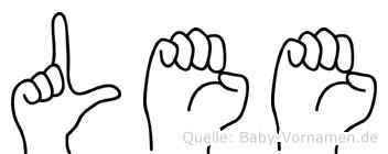 Lee im Fingeralphabet der Deutschen Gebärdensprache