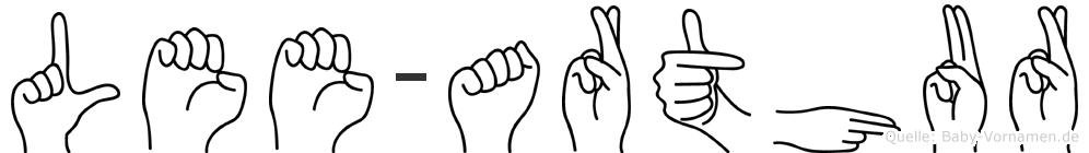 Lee-Arthur im Fingeralphabet der Deutschen Gebärdensprache