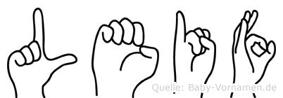 Leif in Fingersprache für Gehörlose