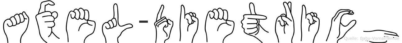 Axel-Dietrich im Fingeralphabet der Deutschen Gebärdensprache