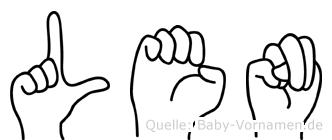 Len in Fingersprache für Gehörlose